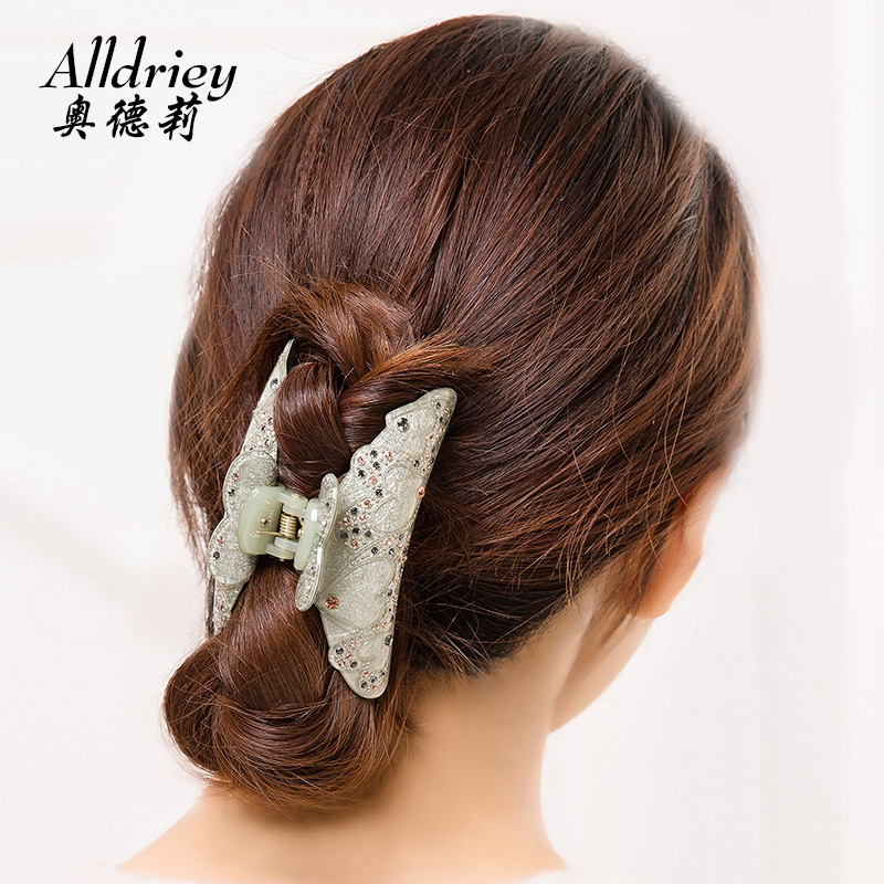 Hair accessories acrylic Rhinestones grip large Korean hair grab Korea headdress diamond hair claw Korean card