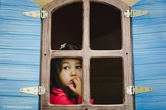 Window. (Dimitar90) Tags: portrait 50mm lens bokeh window wooden play look eyes girl cute beautiful colors kids children birthday shooting photoshoot indoors party celebrate special guest pose hair canon canonphotography portraitphotography canon6d canon50mm