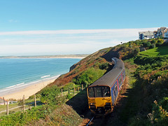 150265 & 150104 Carbis Bay (Marky7890) Tags: gwr 150104 150265 class150 sprinter 2a25 carbisbay stivesbayline railway cornwall train