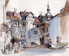 Rumilly ( Haute-Savoie  France ) (m.JaKar) Tags: aquarelle croquis carnetdevoyage dessinurbain hautesavoie insitu vieilleville usk rumilly urbansketchers