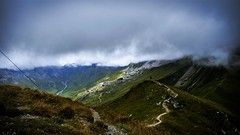 cloudy day in the alps :D (lucapoll) Tags: mountain sunshine sun nature landscape alps high up clouds cloudy day weater 2000m summer grübelspitze austria weather stranger rocks grass