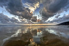 All I think about now (pauldunn52) Tags: dunraven beach sunset reflections southerndown glamorgan heritage coast wales clouds