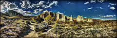 Plaza Blanca along the pathway (JoelDeluxe) Tags: chama river valley abiquiu october 2017 fall colors plaza blanca daralislam hdr panorama landscape nm newmexico joeldeluxe