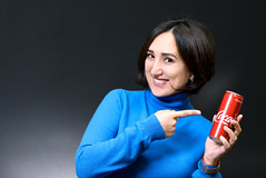Coca-cola (svklimkin) Tags: girl cocacola smile portrait advertising canon mark people svklimkin beautiful