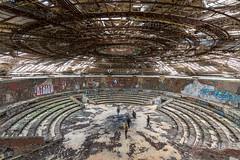 Bulgaria: Buzludzha (DJLeekee) Tags: bulgaria buzludzha spaceship monument soviet chamber concrete explore urbex tiles ceramics fist torches brutal communist party chambre