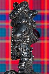 Cheeky Wee Scotsman (Mark Wasteney) Tags: macromondays souvenir macro closeup scotland scottish metal madeofmetal tartan monroe funny e one