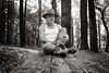table for one (Super G) Tags: nikon305 bw blackandwhite hiking forest trees table sitting selfportrait spc serenity 2017