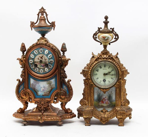 French Mantel Clocks ($616.00 and $179.20)