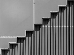 Minimal - Stairs (Visual Stripes) Tags: minimal composition wall shadow blackandwhite lines