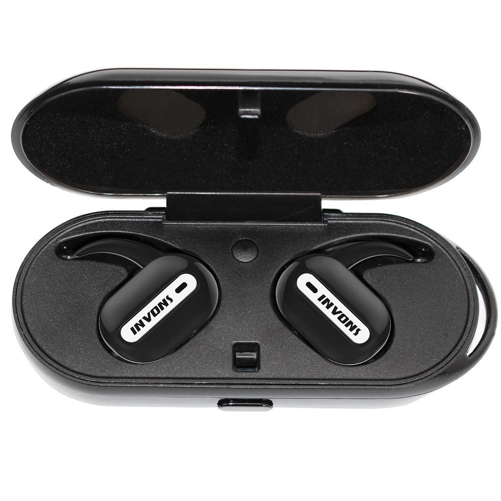 Earphones bluetooth wireless charging case - wireless earphones jogging