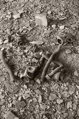 _MG_6549 (daniel.p.dezso) Tags: kiskunmajsa laktanya orosz kiskunmajsai majsai former soviet barrack elhagyatott urbex abandon gas mask abandoned military base militarybase