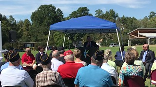 Guest speaker makes several ethnic slurs during the Blue Star Veterans Memorial, Knightdale, North Carolina, 9/30/17 @ Knightdale Station Park.