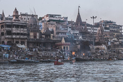 Varanasi - Ganges River - boat ghats-3