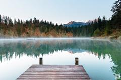 nearly mirrored (gregor H) Tags: flims graubünden schweiz ch cresta fall mist morning spirit nature landscape