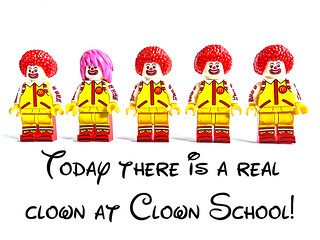 Today there is a real clown at Clown School!