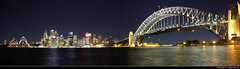 Sydney Harbour Panorama @ Night, Australia (JH_1982) Tags: panorama pano view skyline cityscape urban city light water reflection evening landmark harbour harbor bridge jeffer street pier opera house kirribilli night nacht nuit noche notte 晚上 夜 ночь lights illuminated glow skyscrapers highrises reflections lichter luz sydney sídney 悉尼 シドニー 시드니 сидней nsw new south wales australia australien australie 澳大利亚 オーストラリア 오스트레일리아 австралия travel travelling traveling
