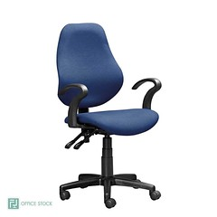 S3000 Typist Chair with Y 100 Arms (Office Stock South Africa) Tags: operators typist chairs mediumback blue s3000