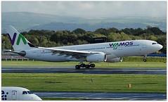(Riik@mctr) Tags: manchester airport egcc ecmny grass airplane sky landscape forest field cloud hills ringway airfield runway wamos air airbus a330 msn 261 ex 9mazl gsman fwwkr gggen