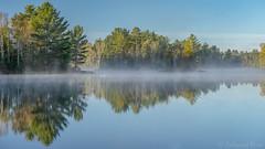 Fish Lake in Fog (ER Post) Tags: americanstates fishlake michigan michiganlake munisingtownship unitedstates us