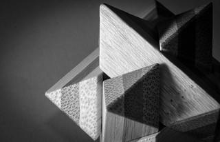 Wood puzzle [Macro mondays-sidelit]