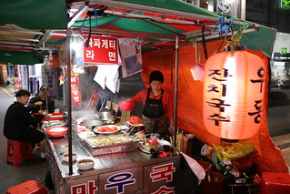 Noodle stall in Busan, Korea