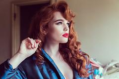 Miss Deadly Red (Roj) Tags: originalphotographers blue sourcerojsmithtumblrcom florentynasidery missdeadlyred headshot fashion portrait redhead canon5dmkiv peignoir photographersontumblr canonef2470mmf28liiusm