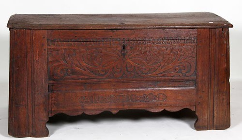1703 Oak Carved Marriage Trunk ($504.00)