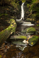 Crooked Edge Waterfall (Rivington) (TrotterFechan) Tags: waterfall river