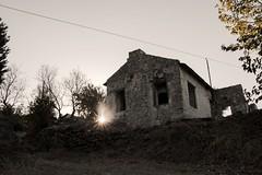 House of Rising Sun (Tahsin Önemli) Tags: house ruined sun sunrise tree