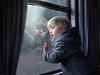 on the train (iwona_podlasinska) Tags: boy light window train journey travel godbye goodbye farewell nostalgic vintege