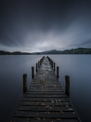 The bleak mid Autumn (tdove77) Tags: coniston water long exposure lee filters little stopper nd graduated filter south lakes lake district autumn leaves jetty parkamoor gh3 lumix panasonic micro four thirds mirrorless sunrise clouds