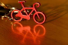 Souvenir (AngharadW) Tags: handlebars wheel keys keyring wood red reflections shadow angharadw southwales velothon bike monday macro macromonday souvenir