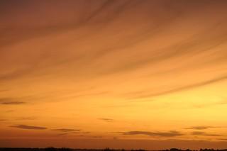 Gelber Sonnenuntergang vor meinem Fenster; Bergenhusen, Stapelholm (10)