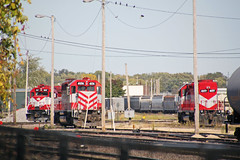 Just three engines in the Madison yard this pleasant fall afternoon (AndyWS formerly_WisconsinSkies) Tags: train railroad railway railfan wisconsinandsouthern wsor watco wamx emd sd402 gp392 locomotive