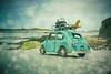 The road to Lummerland II (Thomas Junior Fotografie) Tags: miniature miniatur car auto blech blechauto beach strand mer ocean sand blue water bretagne breizh france sony alpha77mii life funny sun scenery landscape coast 7dwf sunset sea himmel fahrzeug plage sky