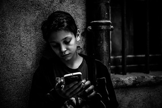 Portrait with smartphone