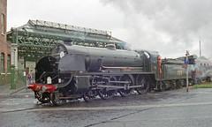 Overlord+50 : 777 + train arriving at So'ton E Docks, 4 June 1994 (Ian D Nolan) Tags: railway railtour dday southamptondocks 35mm epsonperfectionv750scanner lswr 777 sr sirlamiel 460z southamptonterminus om40