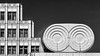 Geometric contrast (laga2001) Tags: geometry geometrical contrast opposite round circle square rectangle line black white bw bnw architecture monochrome vienna austria europe building window city urban structure pattern repeating stringent strict