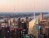 Panorámica. 4 Times Square & Bank of America Tower, vistos desde el Empire State Building. (Luis Pérez Contreras) Tags: viaje eeuu usa trip 2017 olympus m43 mzuiko omd em1 manhattan nyc newyork nuevayork estadosunidos panorama panorámica empirestatebuilding 4thtimessquare bankofamericatower