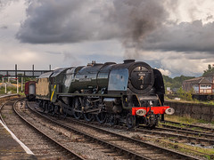 MRC2017-3 (Dreaming of Steam) Tags: 6233 46233 duchess duchessofsutherland heritage heritagerailways lms midlandrailwaycentre princesscoronation princesscoronationclass railway stainer steam steamengine sutherland train vintage engine locomotive railroad smoke steamlocomotive