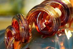 Glass Spiral on Top of Glass Pumpkin (Joseph Hollick) Tags: glasssculpture pumpkin sculpture macromondays