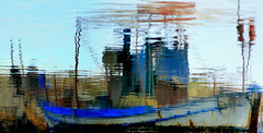 abstract boat reflection (maria xenou) Tags: greece griechenland ελλαδα ελλασ 28ηοκτωβριου αντανακλαση motion emotion spiegelung reflection οχιστονφασισμο τιμηστουσηρωεσ οχιστονπολεμο συναισθηματα