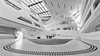 White Spaceship (laga2001) Tags: highkey white black bw monochrome architecture zaha hadid university vienna economics spaceship building austria structure lines curves bright library dotted pattern lc learning center entry hall