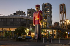 One Tin Soldier (Clayton Perry Photoworks) Tags: vancouver bc canada fall autumn explorebc explorecanada newwestminster skyline night lights worldstallesttinsoldier