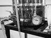 Turning Water to Beer. A True Miracle (Lake Effect) Tags: beer homebrew gauge temperature brewing pot tubes blackwhite monochrome bw utata:project=true2017 utata:entry=4