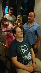 "Celebratory head shave for St. Baldrick's after surpassing the fundraising goal. • <a style=""font-size:0.8em;"" href=""http://www.flickr.com/photos/131449174@N04/23661362528/"" target=""_blank"">View on Flickr</a>"