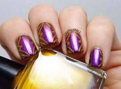 Purple curtains nail art (Simona - www.lightyournails.com) Tags: stamping esmalte smalto vernis manicure unghie nails nailpolish nagellack naillacquer nailart nailstamping bornprettystore