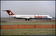 HB-INB - Copenhagen Kastrup (CPH) 17.11.1993 (Jakob_DK) Tags: 1993 mcdonnell douglas mcdonnelldouglas md80 md82 cph ekch storemagleby stmagleby bbb balair balaircta