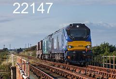 robfrance5d2_22147_300817_x68026_x68001_ravenglass_6k73_drs_edr16lr6pse15weblowres (RF_1) Tags: 2017 68 68001 68026 britain caterpillar caterpillarc17516 class68 cumbria cumbrian cumbriancoast cumbriancoastline diesel directrailservices drs england flask flasks freight haulage hauling hazardous irradiated loco locomotive locomotives nuclear nucleardecommissioningauthority rail railfreight rails railway railways ravenglass rivermite rural stadler train trains transport uk unitedkingdom vossloh waste westmorland