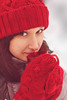 Untitled-4- (Myrinphoto) Tags: portrait girl winter joyful smile gaze look moscow red hat cup mittens